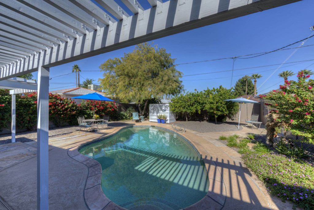 Homes with a pool for sale in Willo, F.Q. Story, Encanto-Palmcroft and Del Norte Place up to $700,000